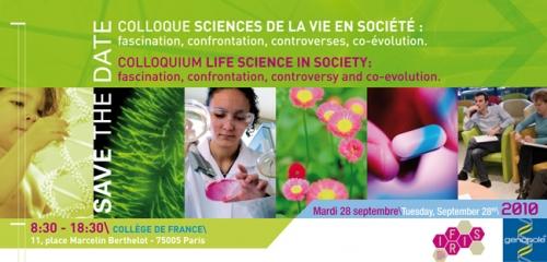 Colloque Sciences de la vie en société