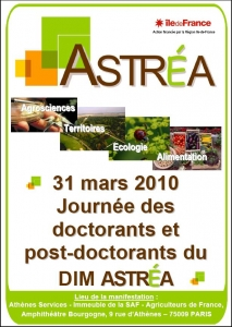 Journée des doctorants et post-doctorants du DIM ASTREA