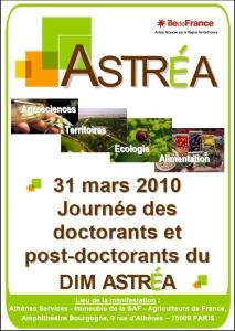Journée des doctorants et post-doctorants du DIM ASTREA